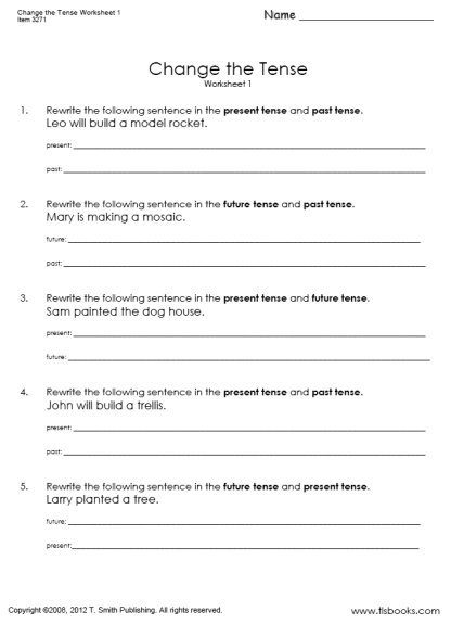 Fair English Worksheets For Grade 3 With Answers On Change The