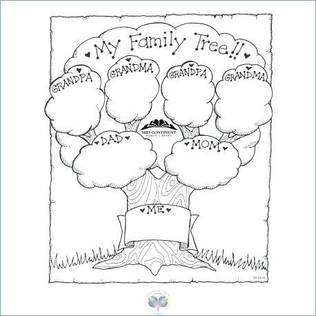 Family Tree Worksheet Printable Color Family Tree Family Tree