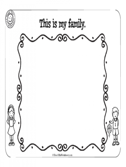 Family Worksheets Kindergarten