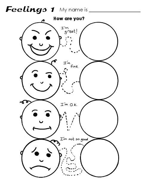 Feelings Worksheets For Kids  Worksheets  Kristawiltbank Free