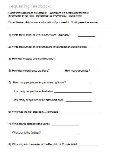 Following Directions Worksheet Trick Following Directions