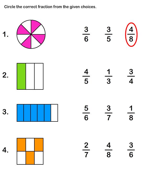 Fraction Worksheets Kindergarten Worksheets For All