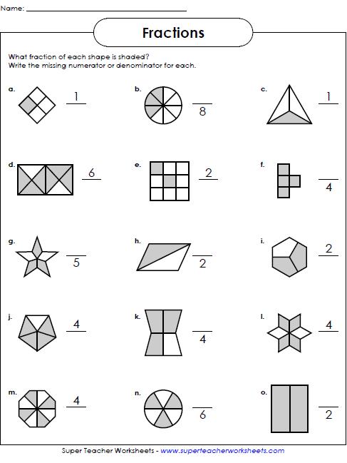 Fractions Worksheets Grade 4 Fraction Worksheets Manipulatives