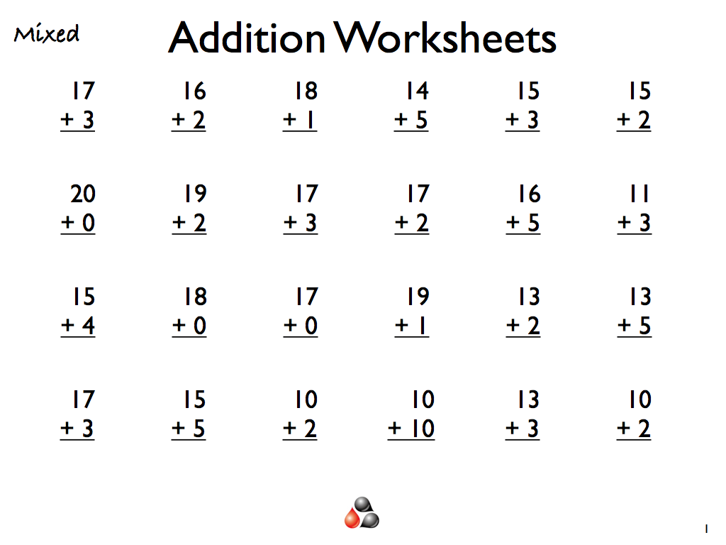 Free Addition Worksheets For First Grade