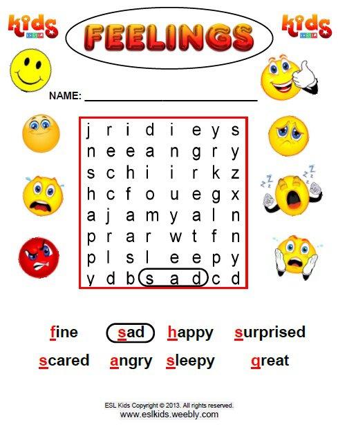 Free Feelings Worksheets Worksheets For All