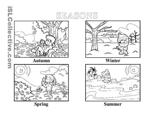 Free Four Seasons Worksheets For Kindergarten