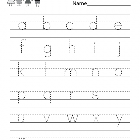 Free Kindergarten Writing Worksheets Learning To Write The