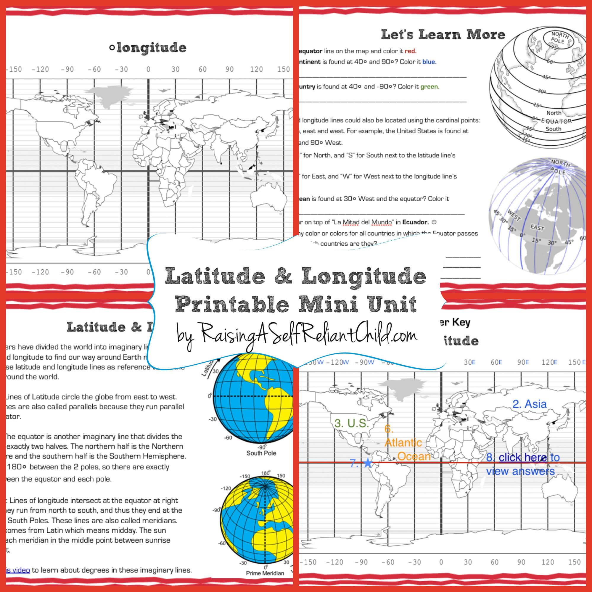 Free Latitude And Longitude Worksheets The Best Worksheets Image