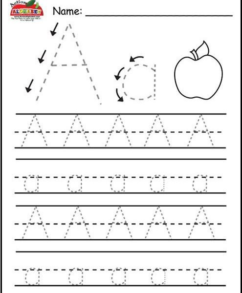 Free Letter Worksheets For Preschool   Coloring Pages