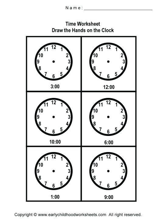 Free Printable Digital Clocks Printable Coloring Drawing Hands On