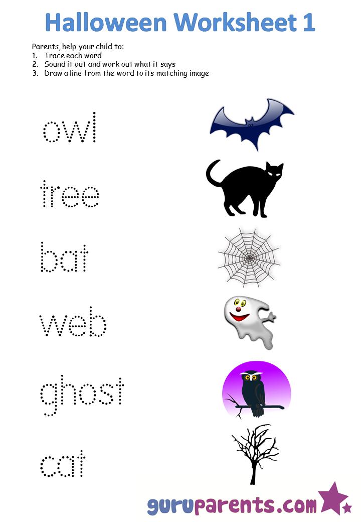 Free Printable Halloween Worksheets