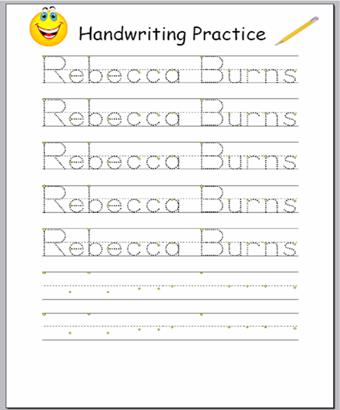 Free Printable Name Worksheets