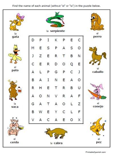Free Printable Worksheets On Animals