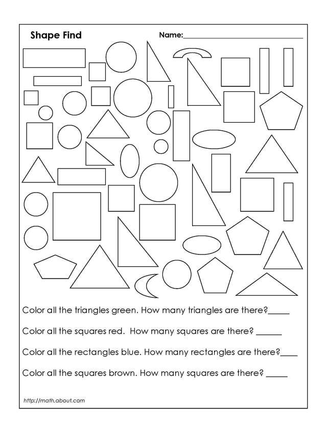 Free Shapes Worksheets For Grade 1