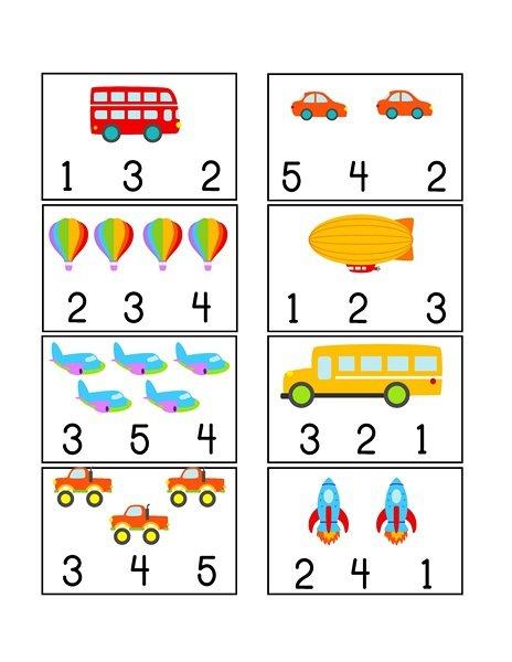 Free Transportation Worksheets For Preschool