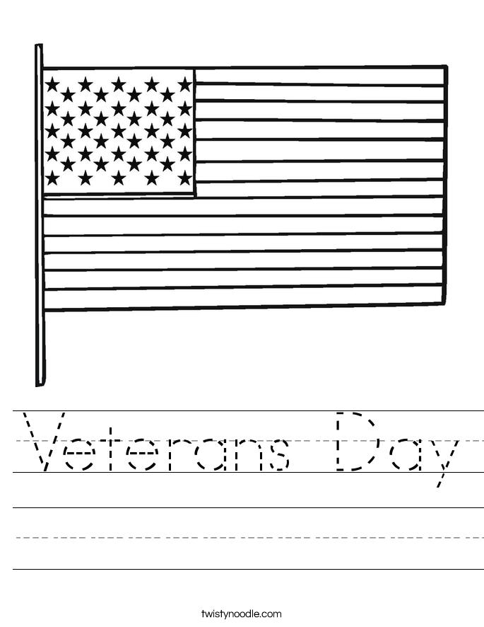 Free Veterans Day Printables For Kindergarten