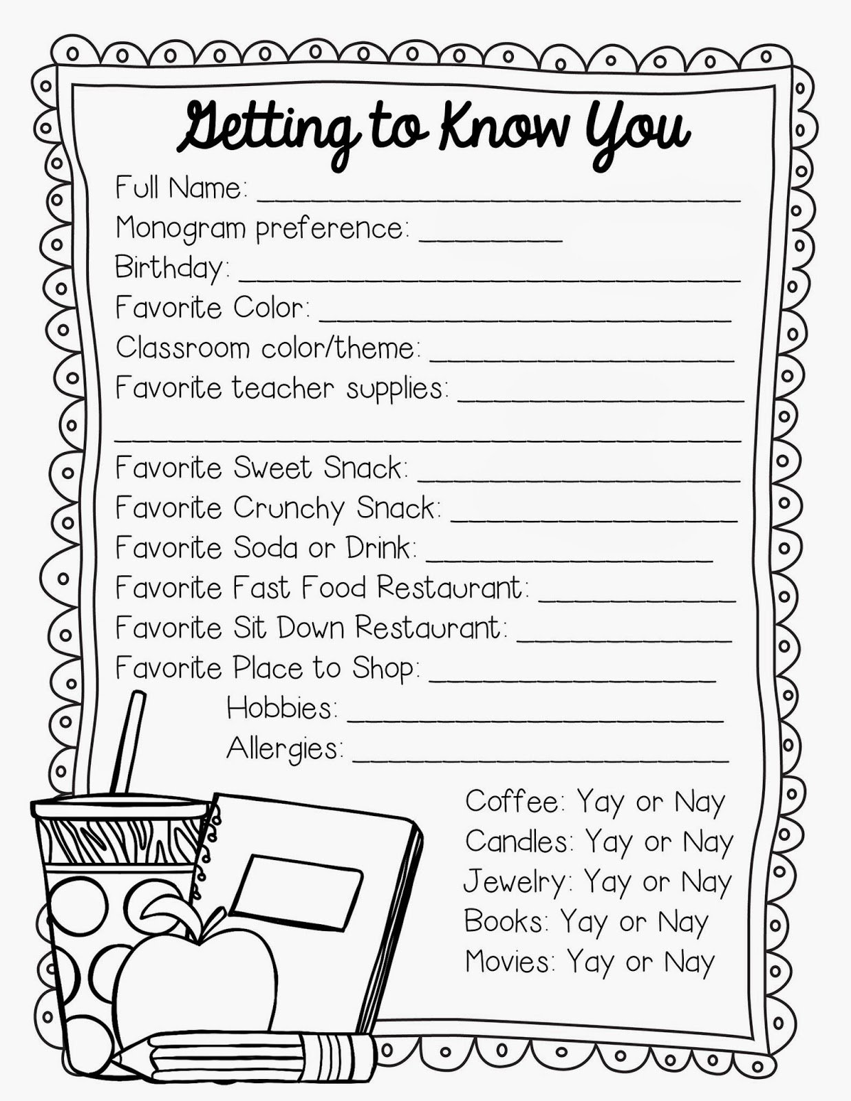 Getting To Know Students Worksheet Worksheets For All Download And