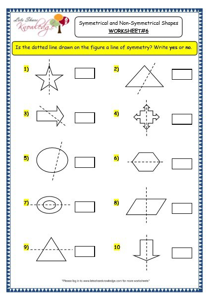 Grade 3 Maths Worksheets  (14 4 Geometry  Symmetrical And Non