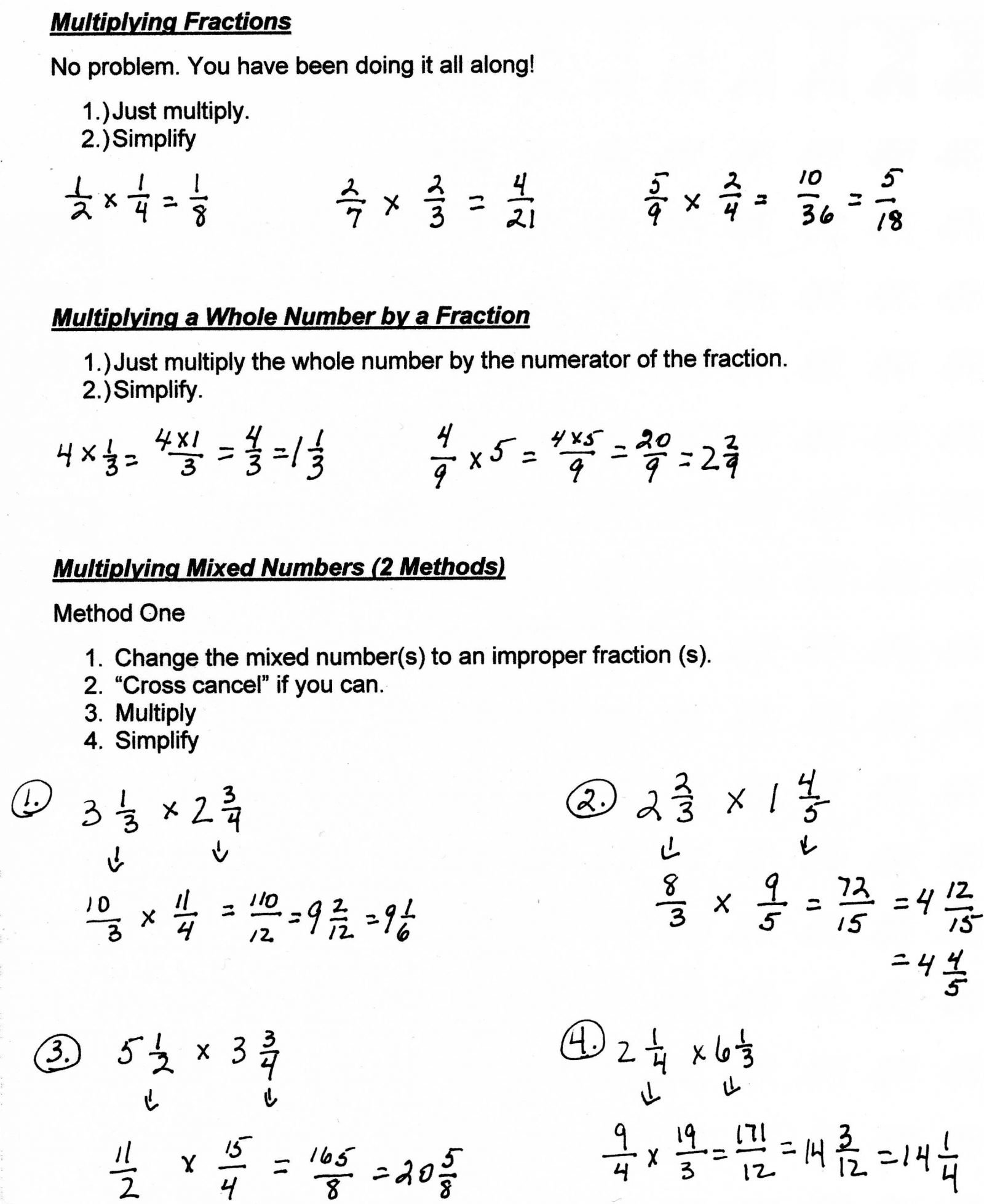 Grade Fractions Worksheets Math Subtracting With Unlike