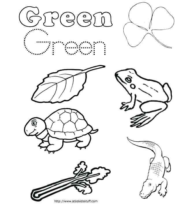 Green Coloring Pages Color Yellow Worksheets Yellow Coloring Pages