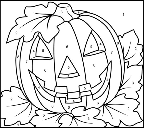 Halloween Color By Number Worksheets Halloween Color Numbers445290