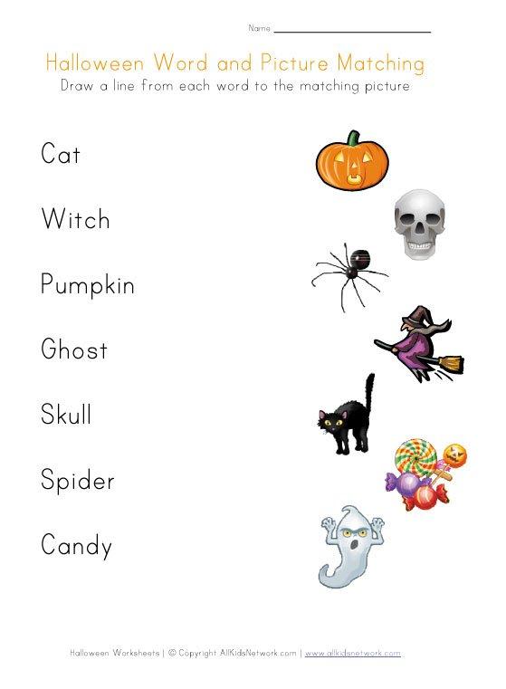 Halloween Kindergarten Worksheets Worksheets For All Download And