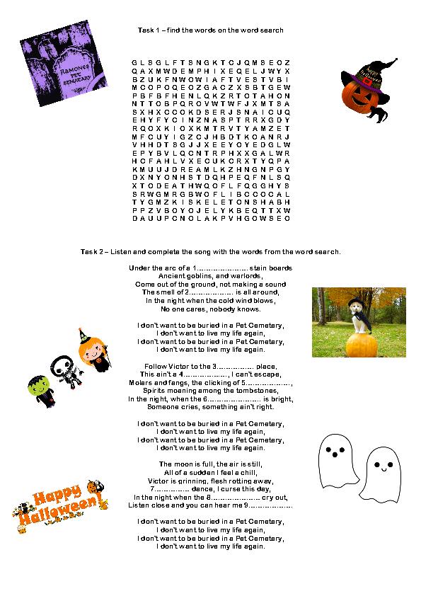 Halloween Lesson Esl 214 Free Halloween Worksheets