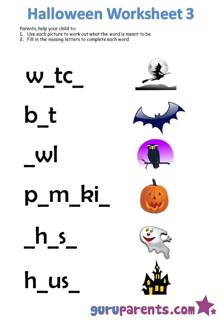 Halloween Sheets Halloween Worksheets Guruparents