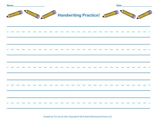 Handwriting Worksheets Name Free Handwriting Practice Paper For