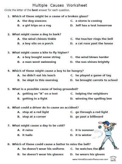 High School English Worksheets