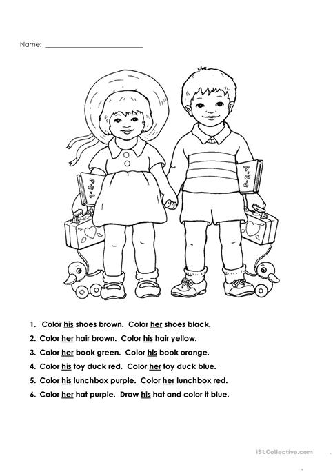 His  And  Her  Worksheet