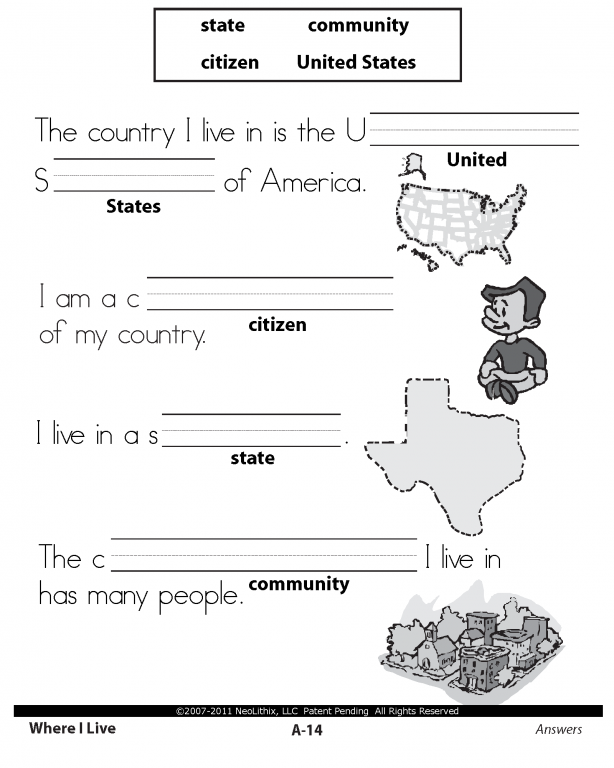 History Worksheets For 1st Grade