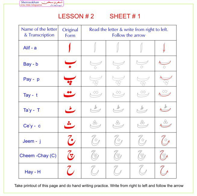 Ideas Of Urdu Letters Tracing Worksheets About Format Sample