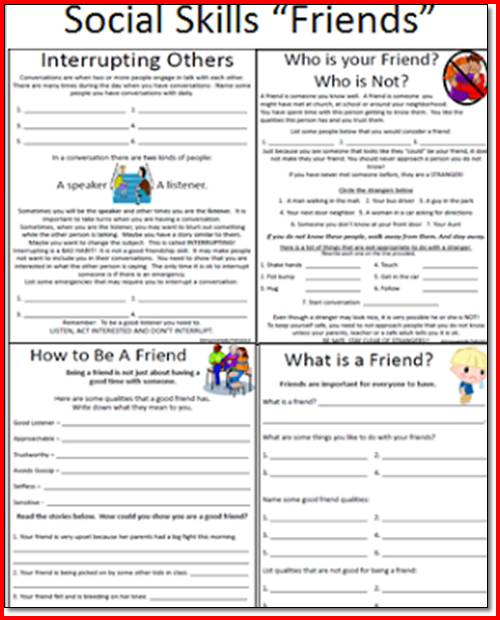 Impulse Control Activities Worksheets For Elementary Students