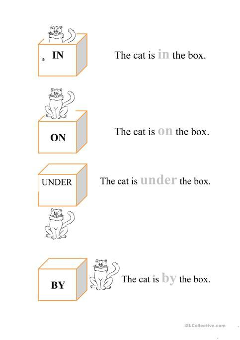 In On Under By Worksheet