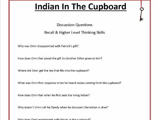 Indian In The Cupboard By Lynne Reid Banks Common Core Aligned 43