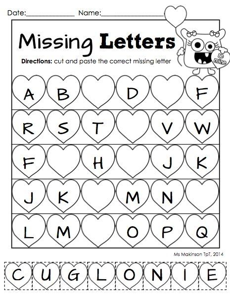 Kindergarten Cut And Paste Phonics Worksheets Worksheets For All