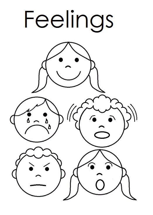 Kindergarten Emotions Worksheets