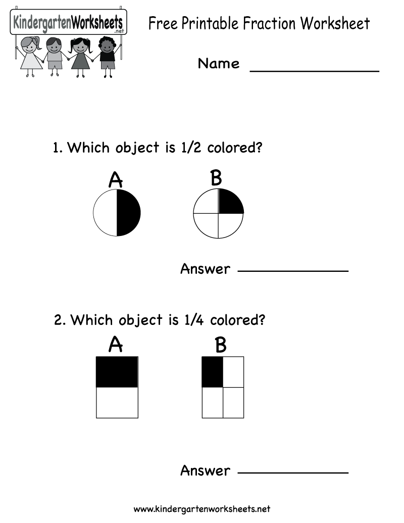 Kindergarten Fraction Worksheets The Best Worksheets Image
