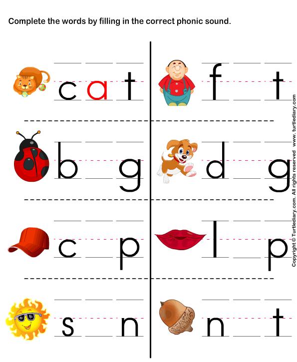 Kindergarten Phonics Worksheets Free Worksheets For All