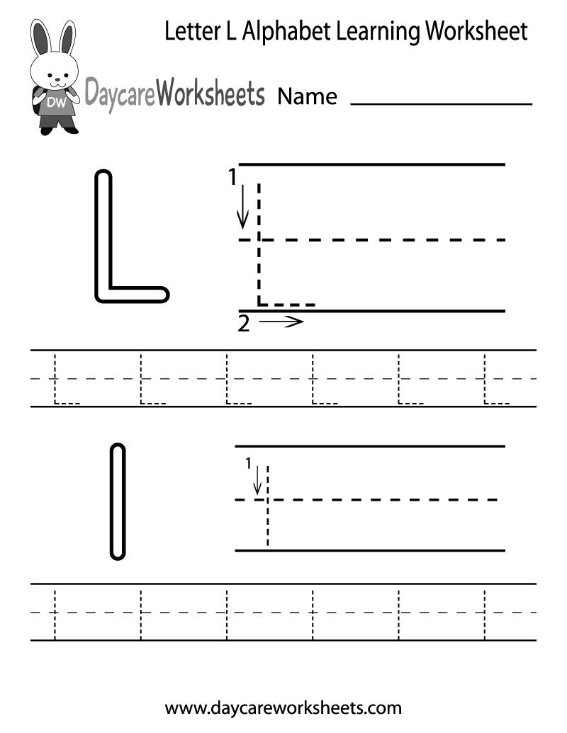 L Printable Worksheets Alphabet Coloring Letter L Printable