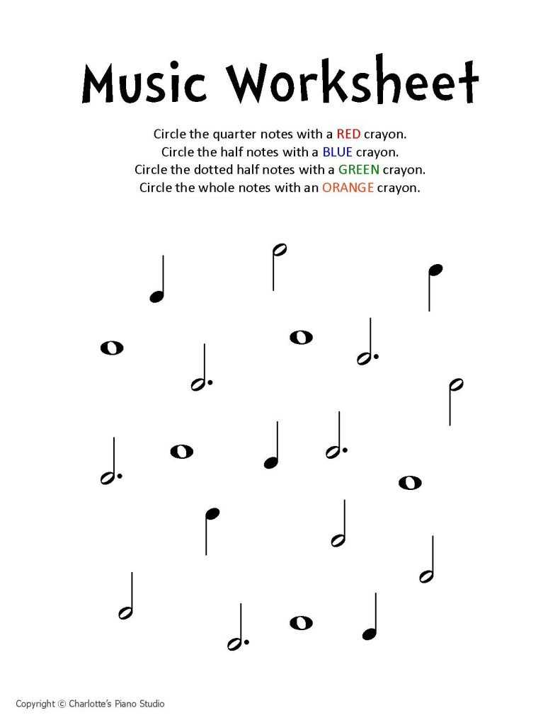 Learning Music Notes Worksheets The Best Worksheets Image