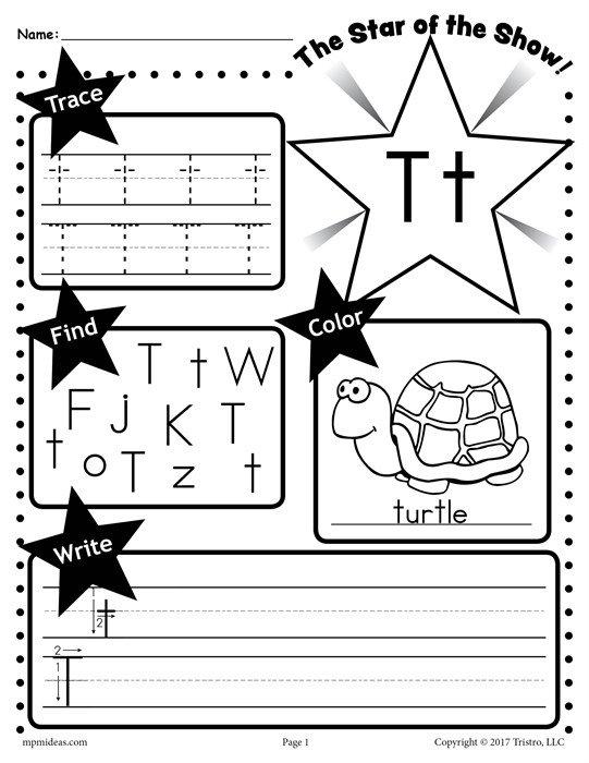 Letter T Worksheets Free Letter T Worksheet Tracing Coloring