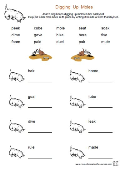 Long Vowel Worksheets – Fran Lafferty's Page