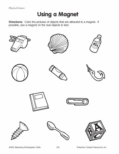 Magnet Worksheets For Kindergarten Worksheets For All