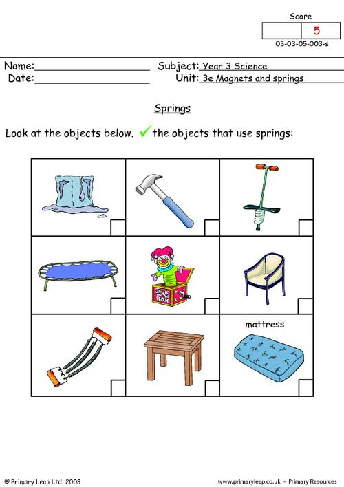 Magnets Worksheet Worksheets For All