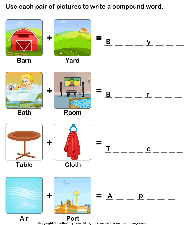 Making Compound Words Worksheet