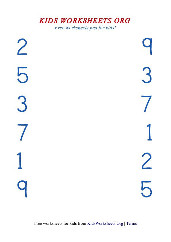 Matching Numbers To Numbers Worksheets Math Ideas T