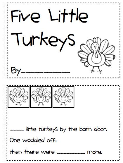 Math Worksheets For Kindergarten Thanksgiving