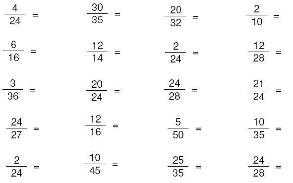 Math Worksheets Third Grade Fractions